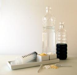 Ingredienti: cloruro di calcio, alginato di sodio, sciroppo o succo di frutta